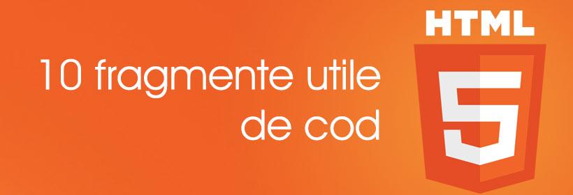 10 cele mai utile fragmente de cod HTML5